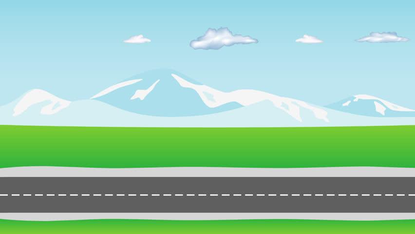 New Car Symbols >> Cartoon Road Objects Stock Footage Video   Shutterstock