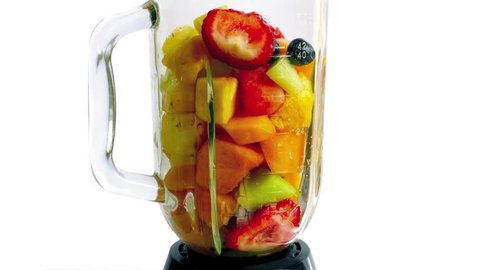 Fruit Smoothie Blended And Poured In Glass