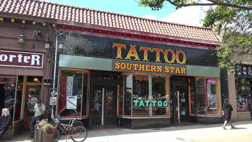 c1ed94c2c Southern Tattoo Star in Little 5 Points Atlanta - ATLANTA / GEORGIA - APRIL  22, 2016