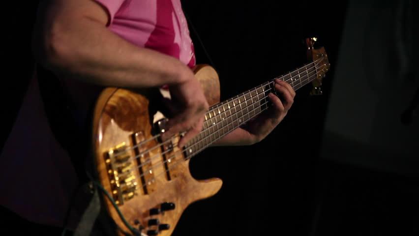 Bass Guitar Jazz Music Musician Stock Footage Video 100 Royalty