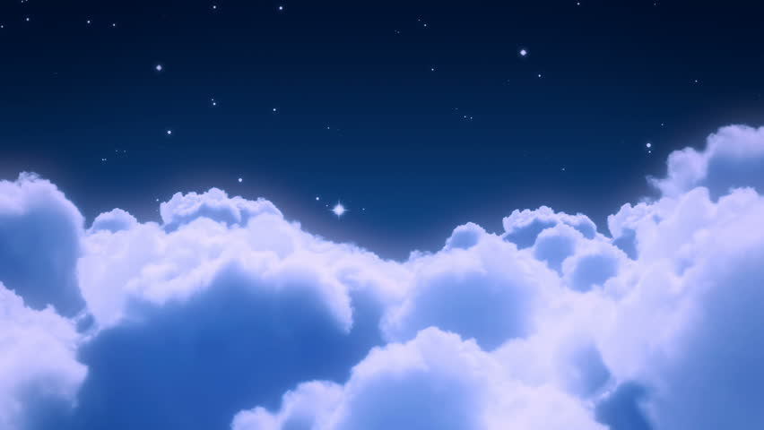Flight over the night sky - loopable cg animation 02 | Shutterstock HD Video #1685197