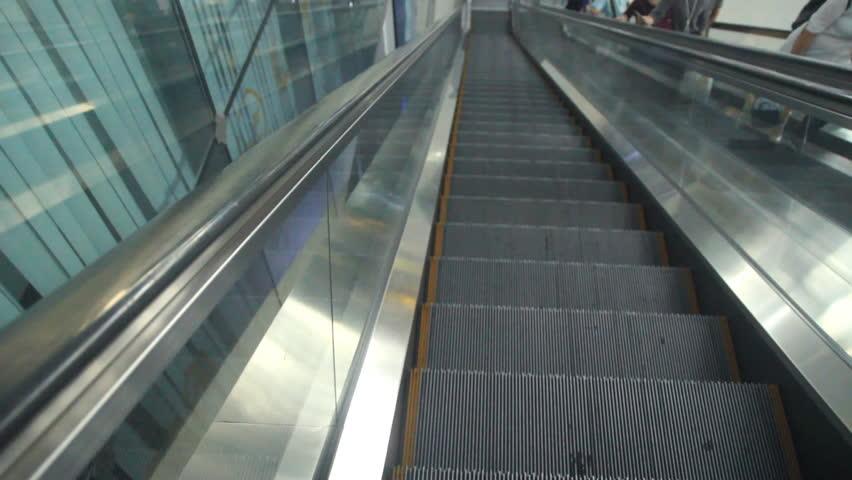 Escalator   HD Stock Footage Clip