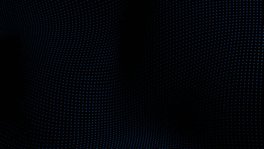 Seamless Loop   Particles Waves Background   HD stock footage clip. Metallic Grid Motion Background  Dark Metal Background With