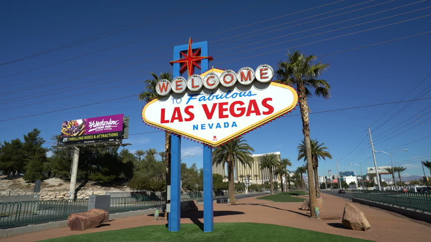 Famous Las Vegas sign at day - February 2016: Las Vegas, Nevada | Shutterstock HD Video #16879807