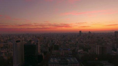 Buenos Aires, Argentina - November 23, 2015: Sunrise, Buenos Aires, Argentina