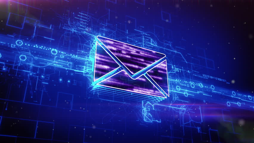 Seamless Loop Background Flying Mails Stock Footage Video 1010083 ...