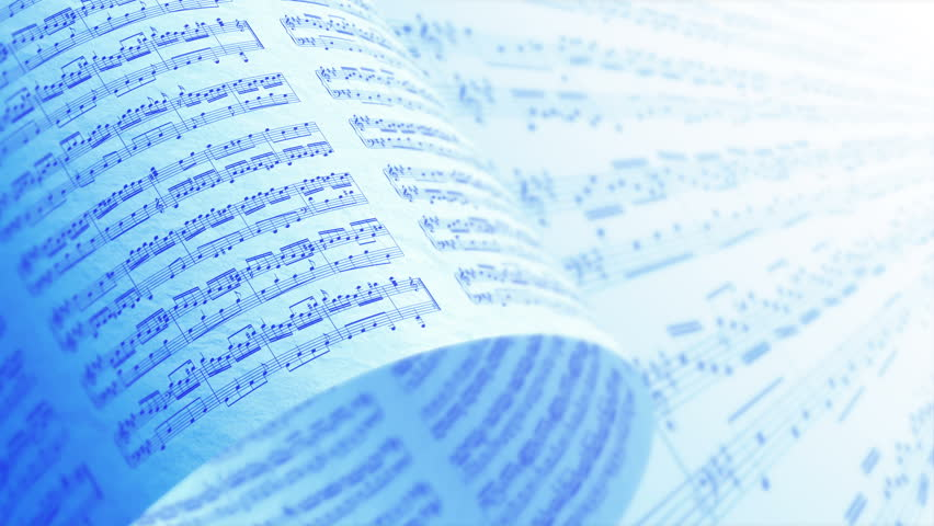 A Collection of High Quality Music Notes Texture, Background LOOP. #16939657