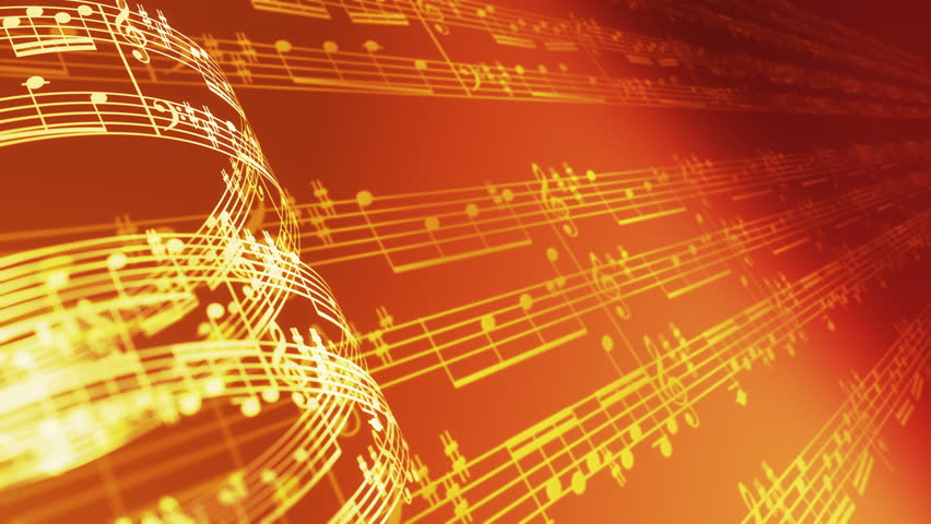 Music Notes Background: Background Of Musical Notes And Globe Stock Footage Video
