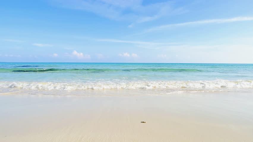Beach, waves, sea. Okinawa, Japan, Asia.