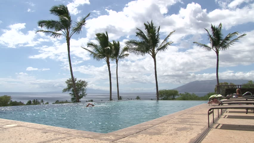 First Class Vacation Resort Ocean Front K Stock Footage Video - First class vacations