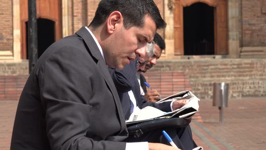 Unemployed Business Man Reading Paper | Shutterstock HD Video #17070247