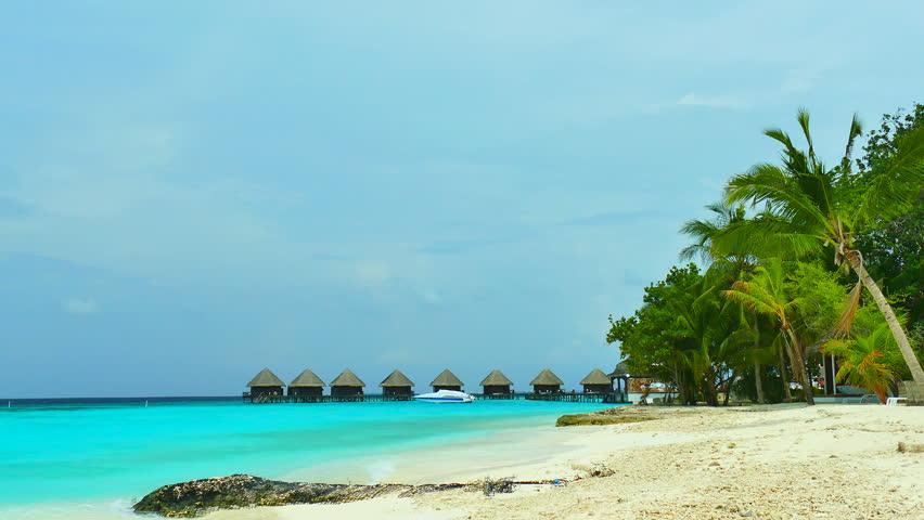 Beautiful tropical beach and sea in maldives island | Shutterstock HD Video #17096257