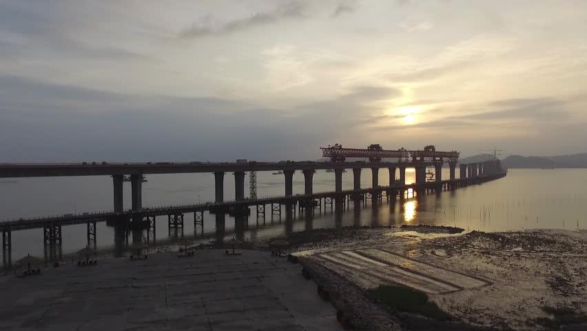 Sea Bridge Construction   Shutterstock HD Video #17105239