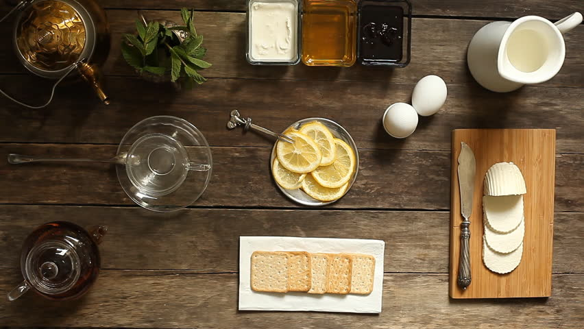 table top background hd. lemon tea and fruit candy on wooden table. vintage background. top view. table background hd