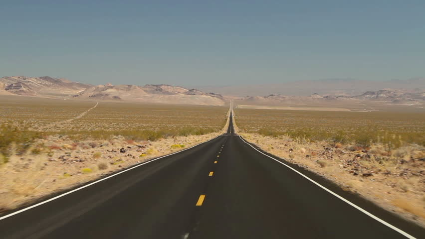 Driving shot on an empty road in Death Valley National Park | Shutterstock HD Video #1715788