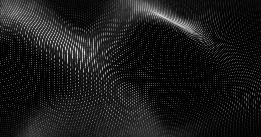 Futuristic Particles Waves  Abstract Background - Creative Design Element.