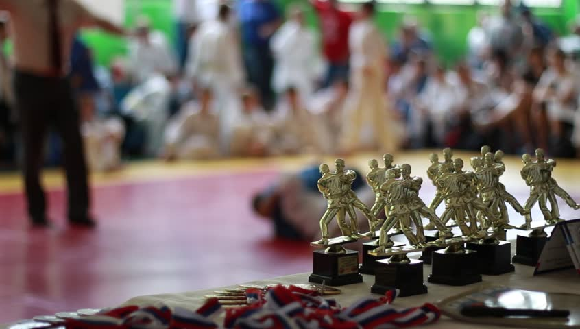 Children Martial arts. Judo competition (kids)