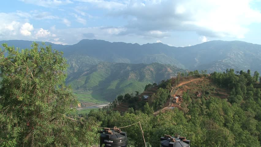 View of the landscape in the Nuwakot District.
