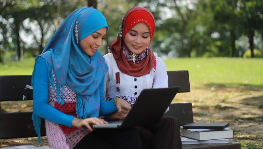 Two Beautiful Muslim Girls On Stock Footage Video 100 -9819