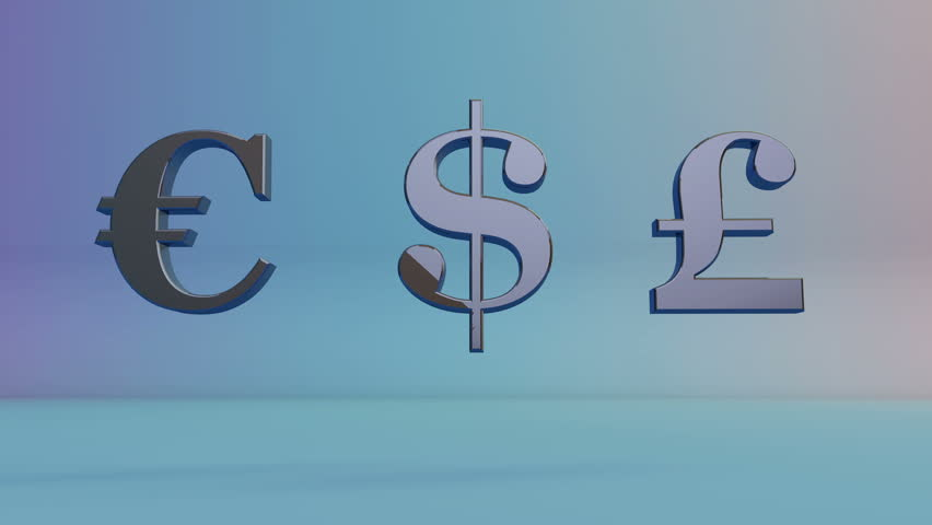 Stock Video Of Currency Symbol Of The Movementllar Pound