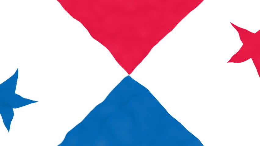 Flag of Panama. Official Panama flag. Waving Panama flag. Copa America   Shutterstock HD Video #17243227