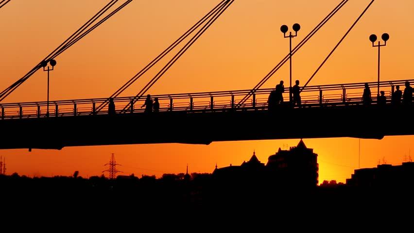 Footbridge. Promenade. | Shutterstock HD Video #17289037
