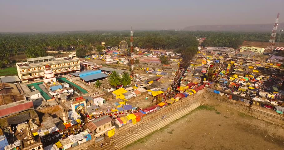 aerial view of festival celebration in India