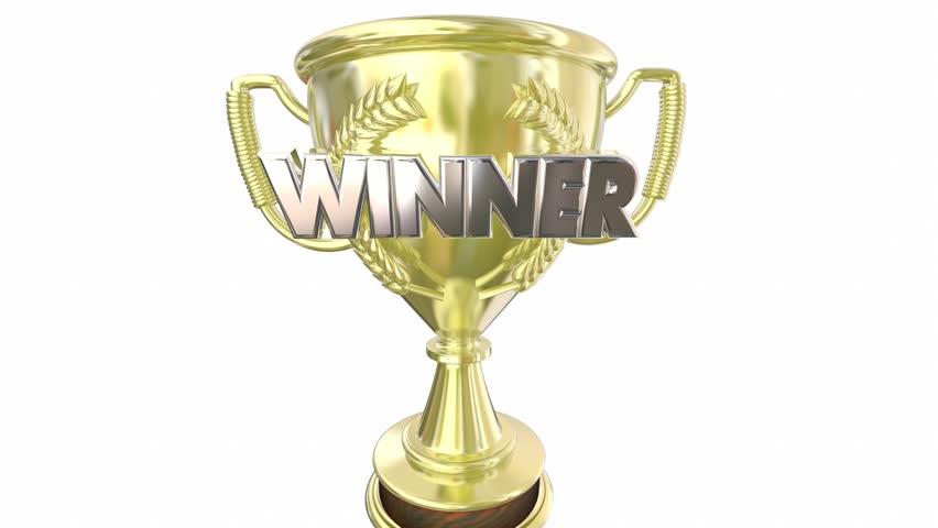 Winner Gold Trophy Award Prize Word 3d Animation