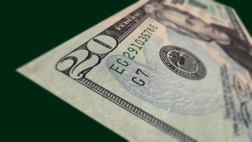 Dollar Bill $20 Macro Close-up Pan | Shutterstock HD Video #1734787