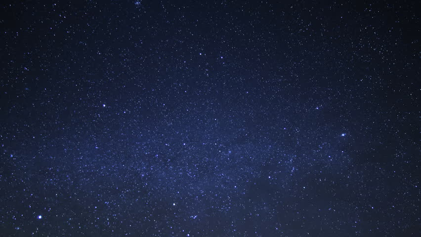 Starry night sky with meteor shower milky way moving in - Starry sky 4k ...
