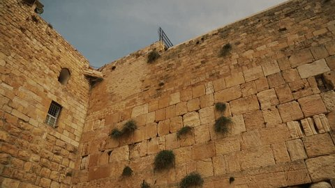 View of a Western wall in Jerusalem. Israel, cca. 2015