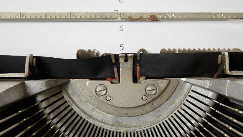 Countdown from ten to zero with numbers typed on a blank paper sheet with an old vintage typewriter.