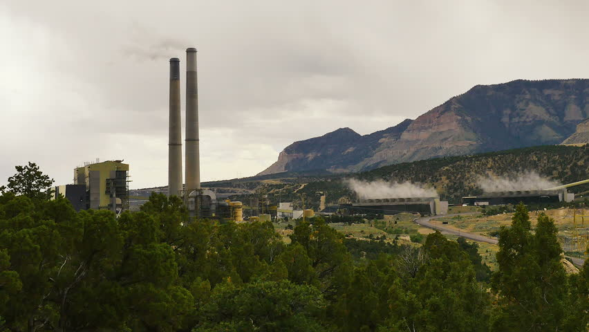 A Large Industrial Coal Power Plant In Southern Utah With