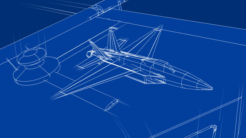 Aircraft technical drawing blueprint time lapse stock footage jet blueprint on drafting table hd stock footage clip malvernweather Images