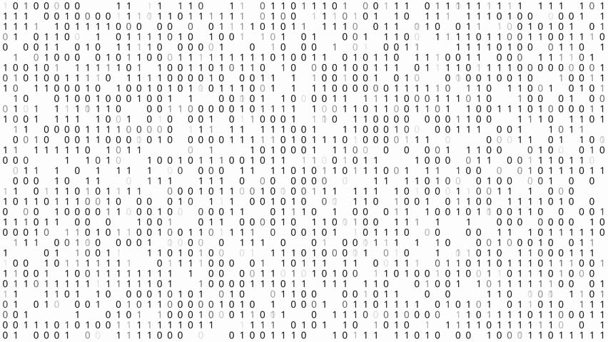 Binary Code White Background, Pattern of 1 and 0 digit blinking and changed over time | Shutterstock HD Video #17600137