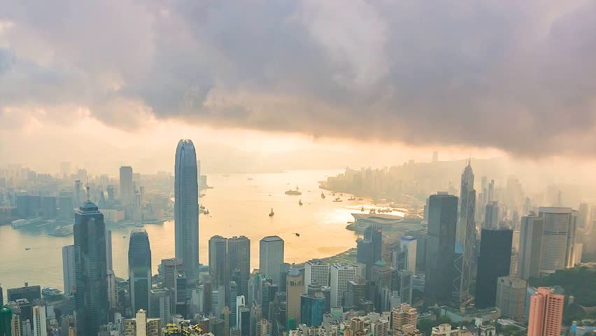 Time lapse Hong Kong city of China  | Shutterstock HD Video #17603107
