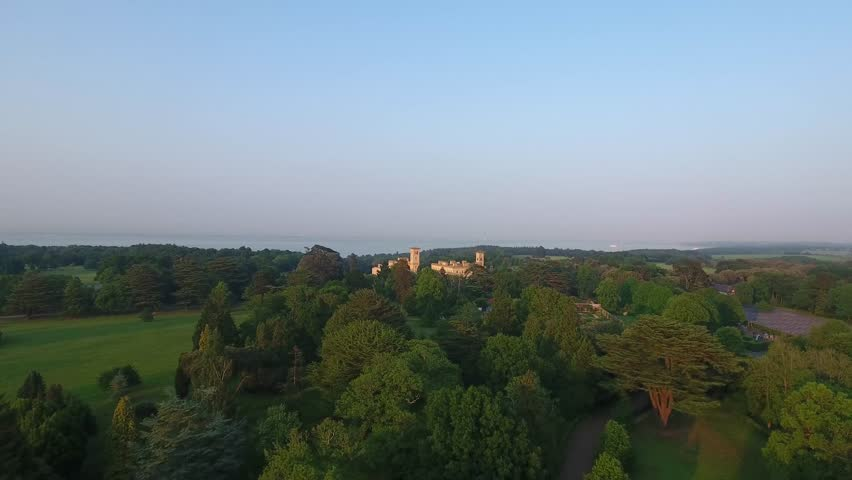 England Isle of Wight Aerial View Historic Osbourne House East Cowes Castle