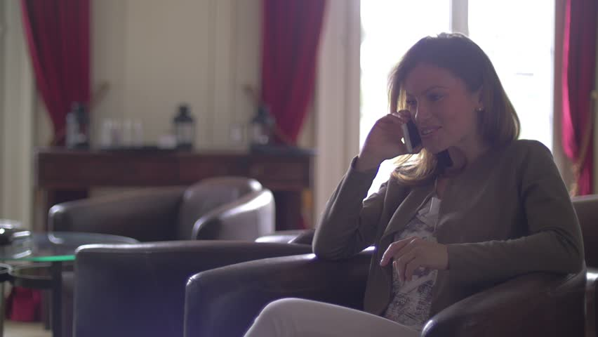 Young woman talking on the phone  | Shutterstock HD Video #17712607