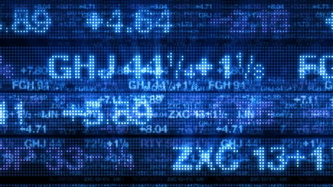 Stock Market Data Tickers Board 3D