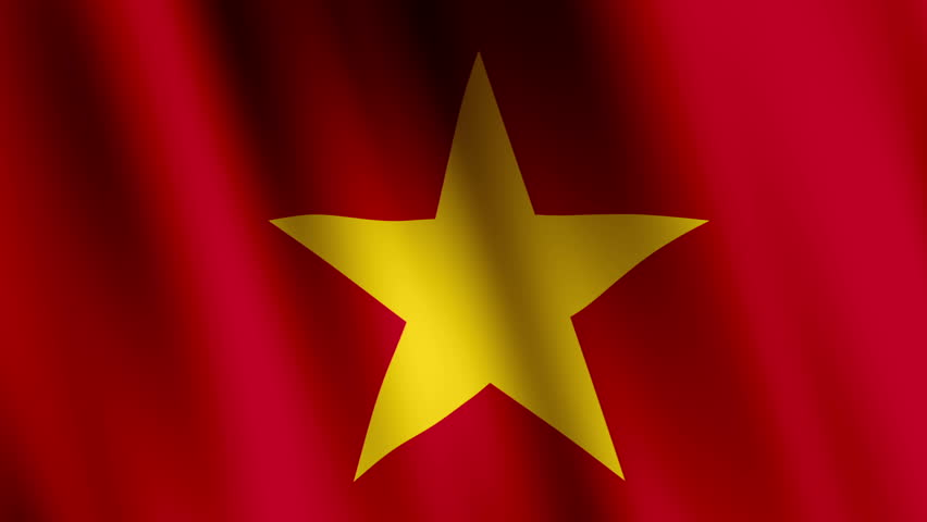 Animated Flag of Vietnam - Stock Footage Video (100%