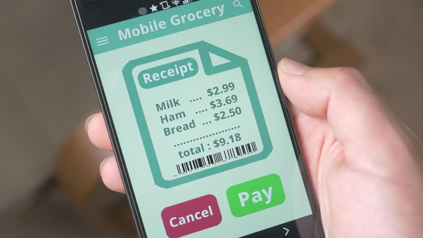 Shopping groceries and paying for them to be delivered. | Shutterstock HD Video #17743447