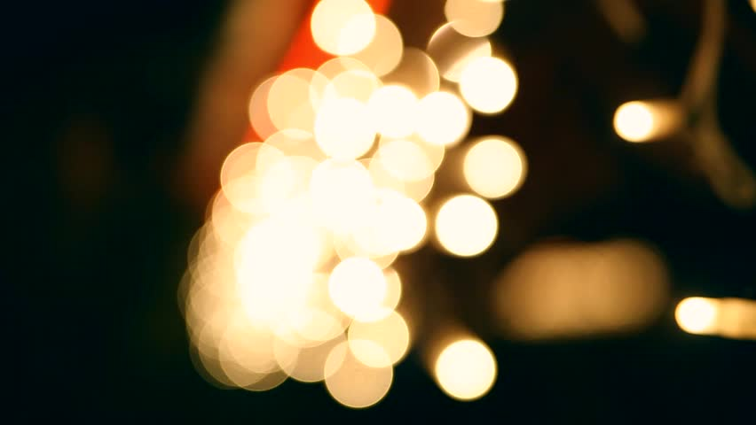 Decorative Outdoor String Lights Hanging Stock Footage Video 100 Royalty Free 17757937 Shutterstock