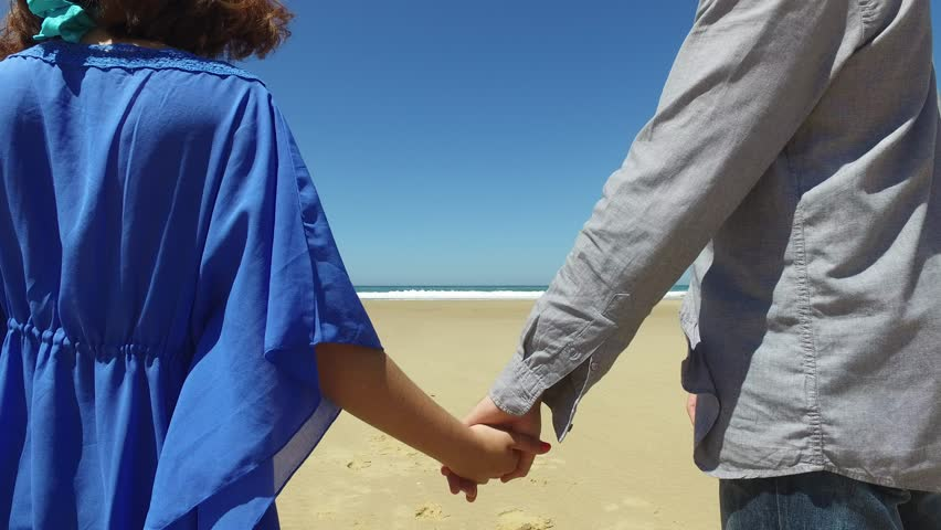 Loving couple at the beach walking  | Shutterstock HD Video #17765527