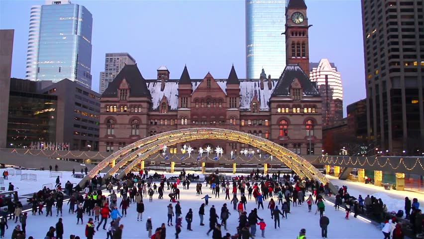 Christmas In Toronto Canada.Ice Skating During Holidays People Stock Footage Video 100 Royalty Free 17770057 Shutterstock