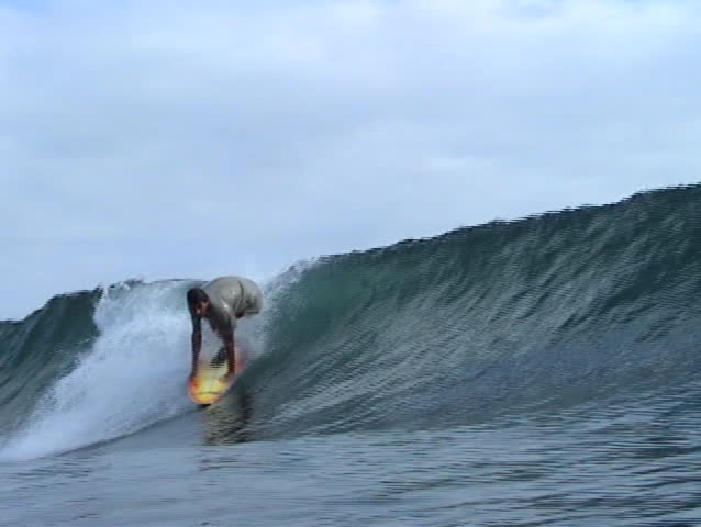 Brazilian surfer in Panama