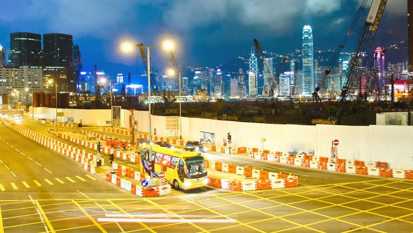 Skyscrapers in Hong Kong. Timelapse | Shutterstock HD Video #1780397