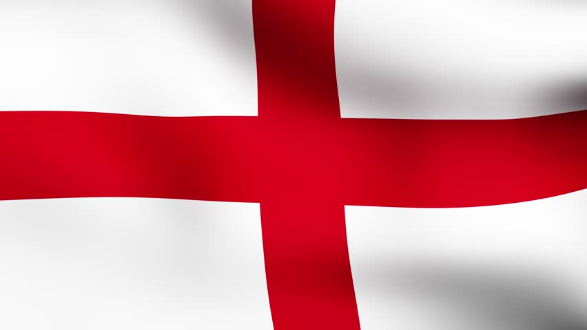 Flag Of England Fluttering In The Wind D Rendering Looping - Flag of england