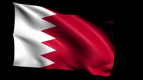 Bahrain National flag 5 second loop(Alpha Channel)