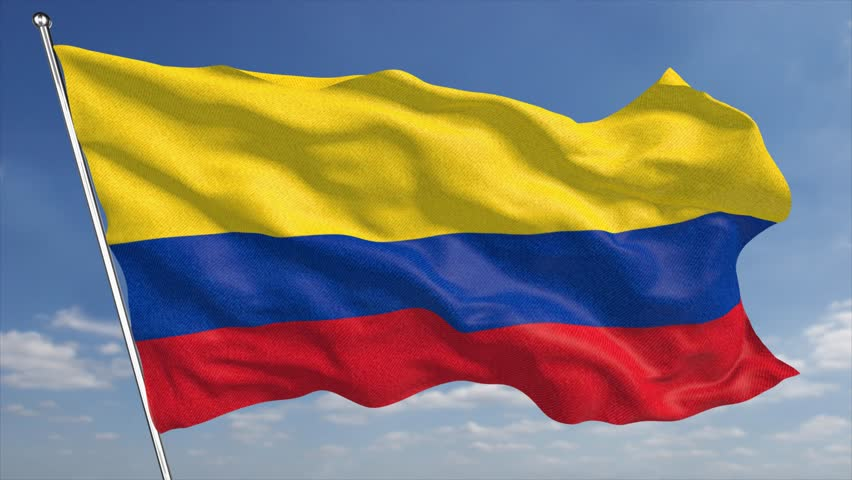 The 4k Colombia Flag Animated Stock Footage Video 100 Royalty Free