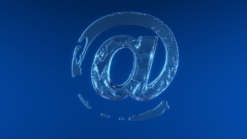 "Water internet mail ""@"" symbol,Alpha included"